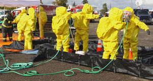 HAZMAT Team Clean Up 2 Foto de Stock