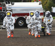 HAZMAT Team Members The Right Stuff. In any urban area the fire departments and emergency response teams will conduct disaster preparedness drills. These HAZMAT Stock Image