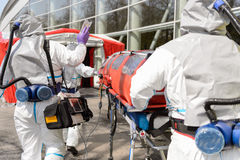 HAZMAT team walking towards chamber Royalty Free Stock Image