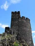 Castle Tower - Hazmburk Stock Photography