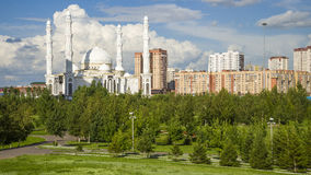 Hazrat Sultan Mosque, in Astana city. Stock Photography