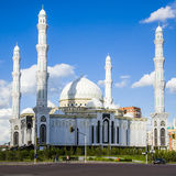 Hazrat Sultan Mosque, in Astana city. Royalty Free Stock Photo