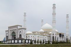 The Hazrat Sultan Mosque in Astana, Kazakhstan. Largest Mosque in Kazakhstan and Central Asia Royalty Free Stock Photography