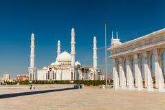Hazrat Sultan Mosque, Kazakhstan, Astana Stock Photo
