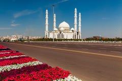 Hazrat Sultan Mosque, Kazakhstan, Astana Royalty Free Stock Images