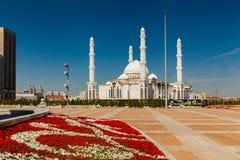 Hazrat Sultan Mosque, Kazakhstan, Astana Stock Image