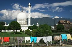 Hazratbal mosque in Srinagar in Indian Kashmir Stock Photos