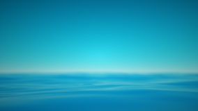 Hazy blue sea with realxing calm waves. The realxing blue waters of the sea with a blurred hazy horizon. A 3D rendering Royalty Free Stock Photography