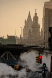 Hazy cityscape. Hazy scene in New York Stock Photography