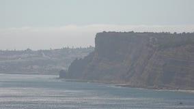 Hazy day at ocean cliffs