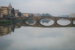 Hazy Florence river Royalty Free Stock Photography