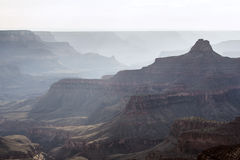 Hazy Grand Canyon Stock Photo