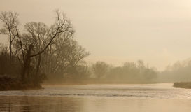 Hazy Grand River Morning Royalty Free Stock Images