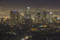 Hazy Los Angeles Night Stock Photo