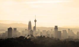 Hazy Morning in Kuala Lumpur Royalty Free Stock Photography