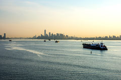 Hazy Morning New York Harbor Stock Photo