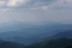 Hazy Mountain Landscape Stock Photo