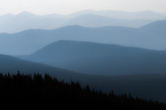 Hazy Mountains. I took this picture on the Mt Evans road on a very hazy day because of nearby wildfires Stock Images