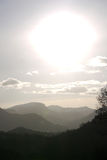 Hazy mountains Stock Image