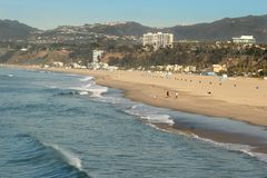 Hazy Pacific Beach Royalty Free Stock Image