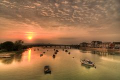 River Adur at Sunset Royalty Free Stock Images