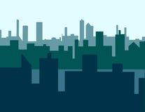 Hazy Skyline. Three layers of skyline creating deep space Royalty Free Stock Photo