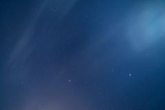 Hazy Starry Backdrop Stock Images