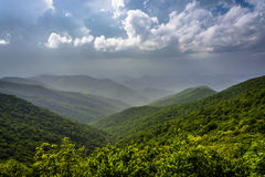 Hazy summer view of the Appalachian Mountains from the Blue Ridg Stock Photography