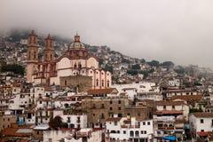 Hazy Taxco Santa Prisca Church Stock Image