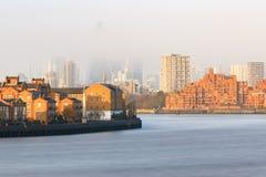 Hazy view of City of London Stock Image