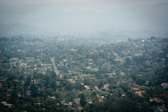 Hazy view from Mount Helix, in La Mesa, California. Stock Image
