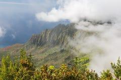 A hazy view of the Na Pali Coast Royalty Free Stock Image