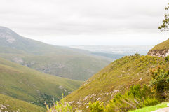 Hazy view from the Outeniqua Pass Royalty Free Stock Image