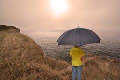Hazy weather Stock Images