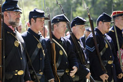 HB Civil War Re-Enactment 10 - Union Soldiers Royalty Free Stock Photos