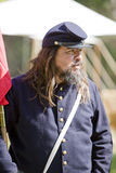 HB Civil War Re-Enactment. HUNTINGTON BEACH, CA - AUGUST 30:  Civil war re-enactor as a union soldier. The annual 'Civil War Days' brings together enthusiasts Royalty Free Stock Image