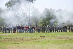 HB Civil War Re-Enactment 3154 Stock Photos