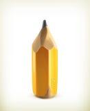 HB graphite pencil, icon. HB graphite pencil icon, illustration on white background stock illustration
