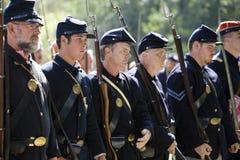 HB het Weer invoeren 10 van de Burgeroorlog - de Militairen van de Unie Royalty-vrije Stock Foto's