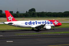 HB-IHY edelweiss air Airbus Stock Image