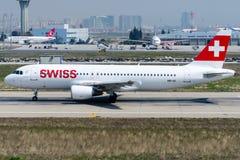HB-IJI Swiss, Airbus 320-214 Stock Photography