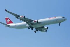 HB-JMI Airbus A340-300 de Swissair, Fotografia de Stock
