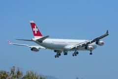 HB-JMI Airbus A340-300 de Swissair, Photographie stock