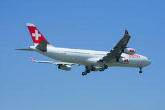HB-JMI Airbus A340-300 of Swissair, Stock Photo
