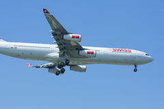 HB-JMI Airbus A340-300 of Swissair, Royalty Free Stock Photo