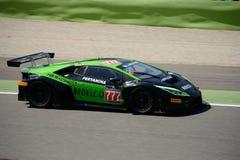 HB Lamborghini di corsa Huracan GT3 del gruppo a Monza immagini stock libere da diritti