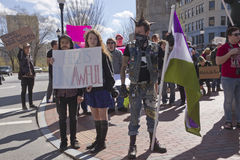 HB2 Protesters in Asheville, NC Royalty Free Stock Photography