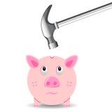Hábitos financeiros ruins Imagens de Stock Royalty Free