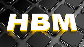 HBM (High Bandwidth Memory). Computer generated image (3D render stock illustration
