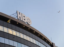 HBO logo. Bucharest, Romania, 25 February 2016: HBO Television logo on a building in Bucharest Stock Image